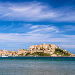Calvi, a colorful coastal town on the island of Corsica, France